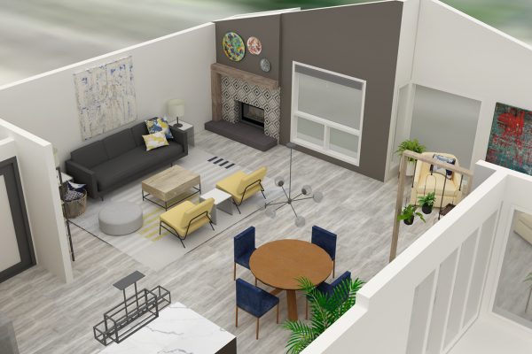 Sound of Home Interior Design - Open living area_